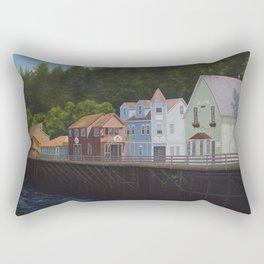 Ketchikan's Creek Street Rectangular Pillow