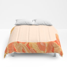 Mid-Century Tropical Orange Way #society6 #tropical Comforters