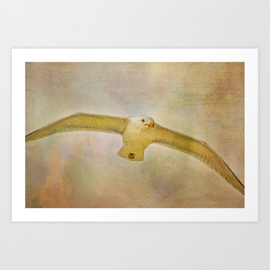 Dream World Seagull Art Print
