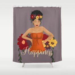 Celebration of Happiness Shower Curtain