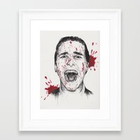 american psycho Framed Art Prints featuring American Psycho by Carrie Anne Hudson