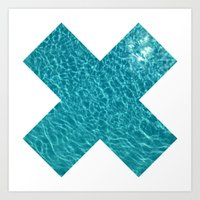 X MARKS THE WATER Art Print