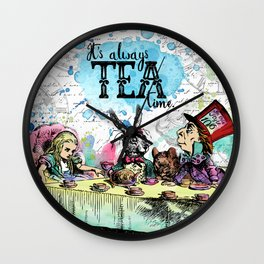 Alice in Wonderland - Tea Time Wall Clock