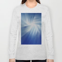 Blue Streaks of Light Long Sleeve T-shirt
