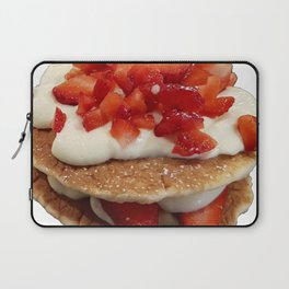 pancakes_strawberries_and_whip_cream Laptop Sleeve