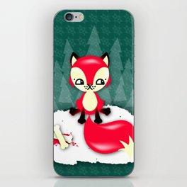 Fox's Christmas Dinner iPhone Skin
