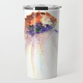 Daisy. Echinacea. watercolor Travel Mug