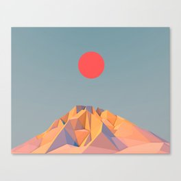 Sun on Mountain Canvas Print