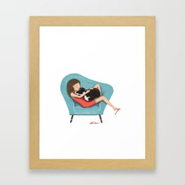 Pet cuddles Framed Art Print