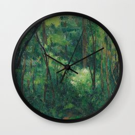1880 - Paul Cezanne - Interior of a forest Wall Clock