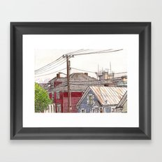 Houses Framed Art Print