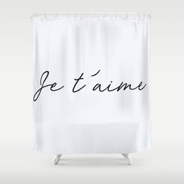 80 I Love You Shower Curtain