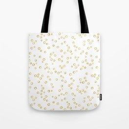 Gold Hand Painted Circles Tote Bag