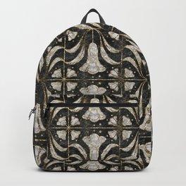 Art Deco Marble Tile Floral. Bluebell flowers Backpack
