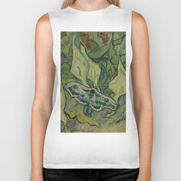 "Vincent Van Gogh ""Emperor Moth (The giant peacock moth)"" Biker Tank"