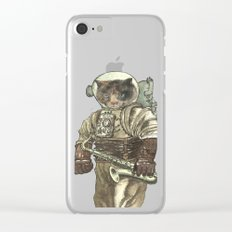 Space Cat with Saxophone Clear iPhone Case