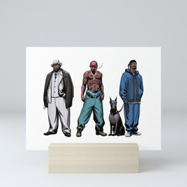 Legendary Rappers Mini Art Print