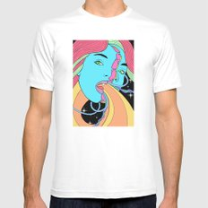 Psychedelic Vibes White Mens Fitted Tee MEDIUM