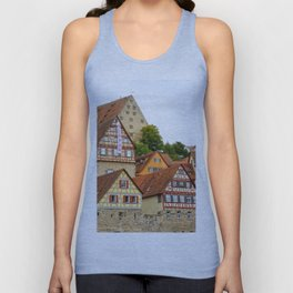 Traditional medieval German houses Unisex Tank Top