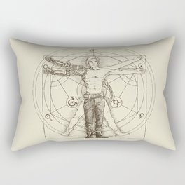 Vitruvian Alchemist Rectangular Pillow