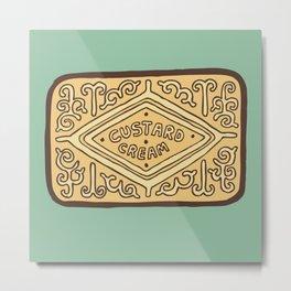 Custard Cream Biscuit Metal Print
