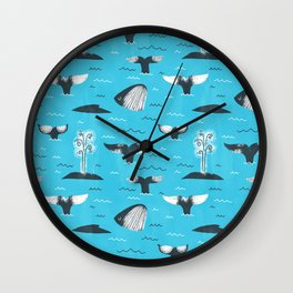 Whale Tails (The Humpback Kind!) Wall Clock