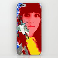 her art iPhone & iPod Skins featuring HER by Lisamce