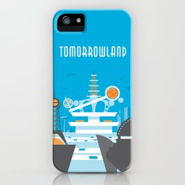 Tomorrowland Travel Poster iPhone Case