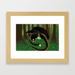 A Green Witch's Reading Nook Framed Art Print