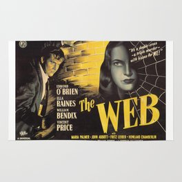 The Web, vintage horror movie poster Rug