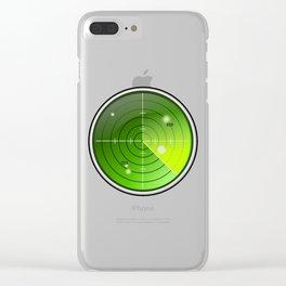 Submarine / Battleship Radar Detector Clear iPhone Case