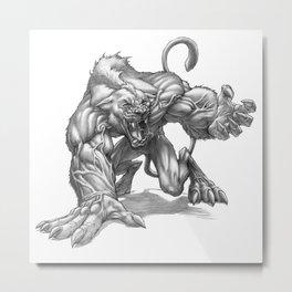 The Ridgeback Cougarwolf Metal Print