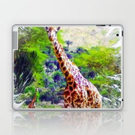African Giraffe - Wondering Through Africa Laptop & iPad Skin