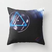 floyd Throw Pillows featuring Floyd Spinning by Jasmine Marie