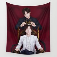 kpop Wall Tapestries featuring King Sunggyu by Nikittysan