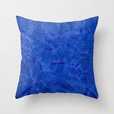 Dark Blue Stucco - Rustic Glam Throw Pillow