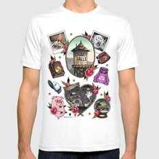 Gravity Falls Tattoos White Mens Fitted Tee LARGE