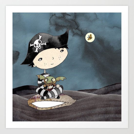 the little swashbuckler Art Print