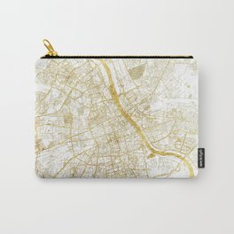 Warszawa Map Gold Carry-All Pouch