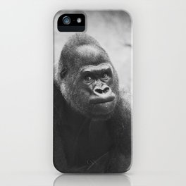 The Look Of A Silver Back iPhone Case