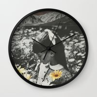 lights Wall Clocks featuring Lights by Sarah Eisenlohr