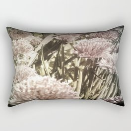 Bee and Chive blossom Rectangular Pillow