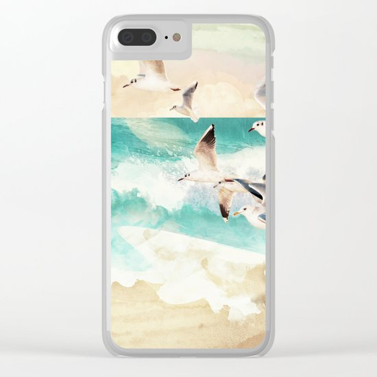 Summer Flight Clear iPhone Case