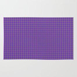 Purple Violet Grey Houndstooth Pattern Rug