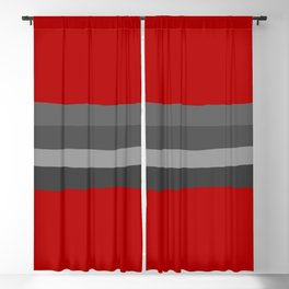 Abstract Grey Lines Blackout Curtain
