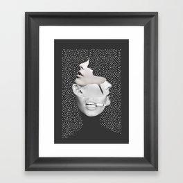 collage art / Faces 2 Framed Art Print