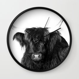 Cow photo   Black and White Wall Clock
