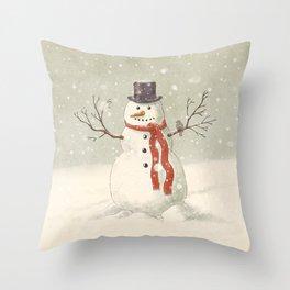 The Snowman  Throw Pillow