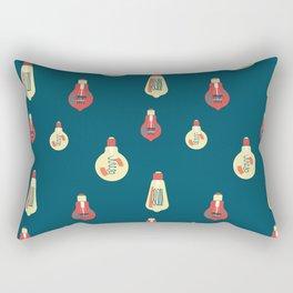 Antique glass bulbs drops blue Rectangular Pillow