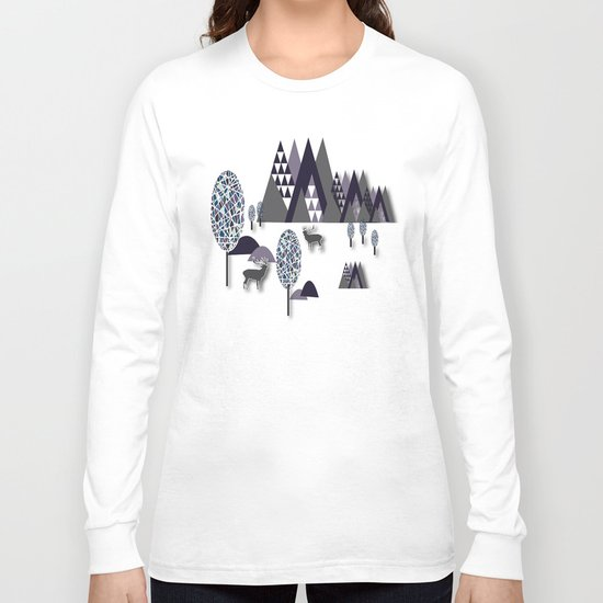 To Be Free In The Mountains Long Sleeve T-shirt